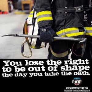 overweight firefighters